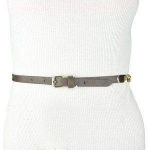 Womens bcbg Gold Brown Faux Leather Belt
